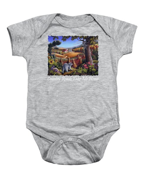 Country Roads Take Me Home T Shirt - Coon Gap Holler - Appalachian Country Landscape 2 Baby Onesie