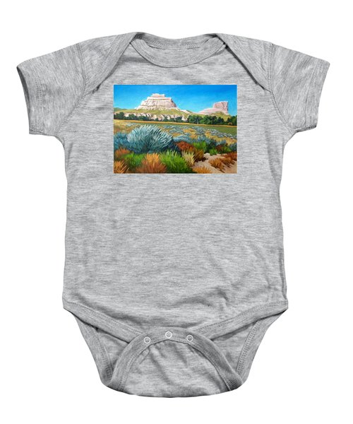 Courthouse And Jail Rocks Acrylic Baby Onesie