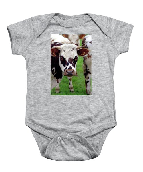 Cow Closeup Baby Onesie