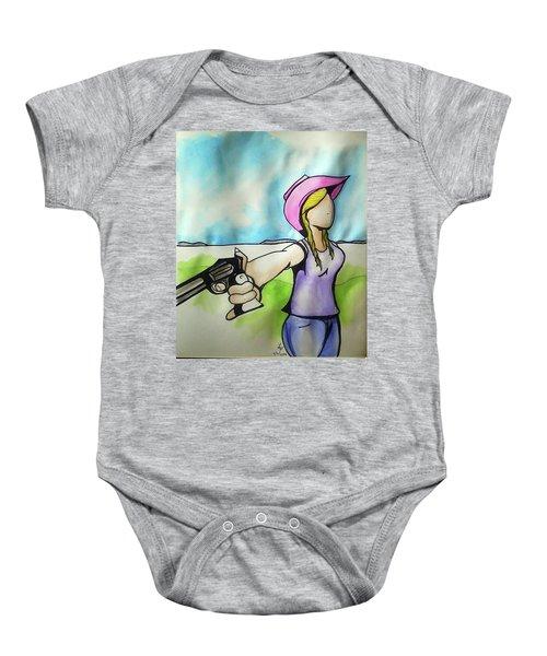 Cowgirl With Gun Baby Onesie