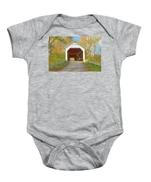 Cox Ford Covered Bridge Baby Onesie