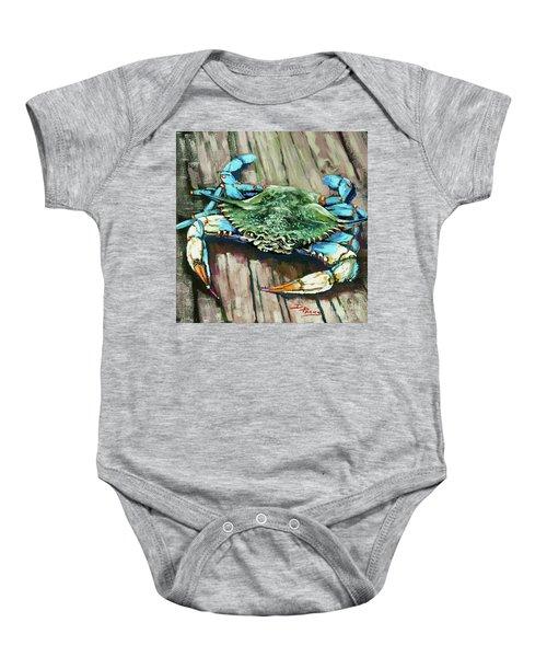 Crabby Blue Baby Onesie