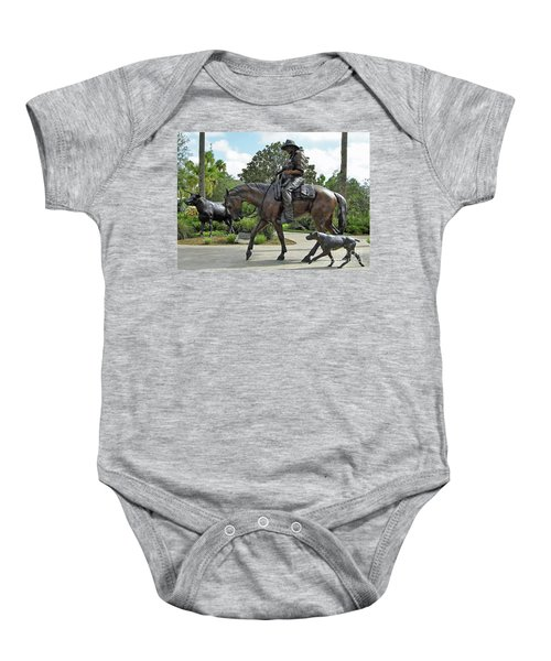 Cracker Cowboy And His Dog Baby Onesie