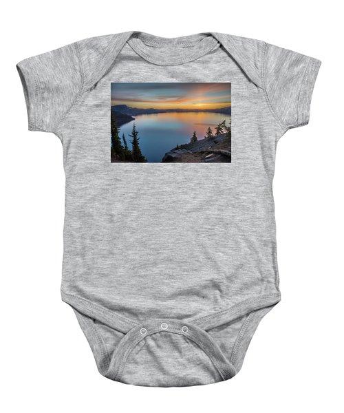 Crater Lake Morning No. 1 Baby Onesie