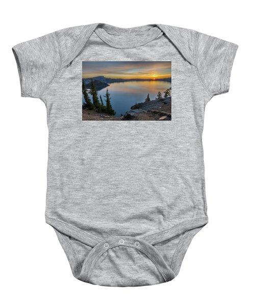 Crater Lake Morning No. 2 Baby Onesie