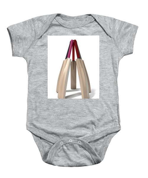 Cricket Bat Circle Baby Onesie