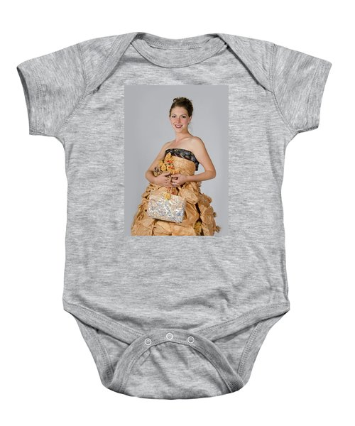 Cristina In Bring Your Own Bags Baby Onesie