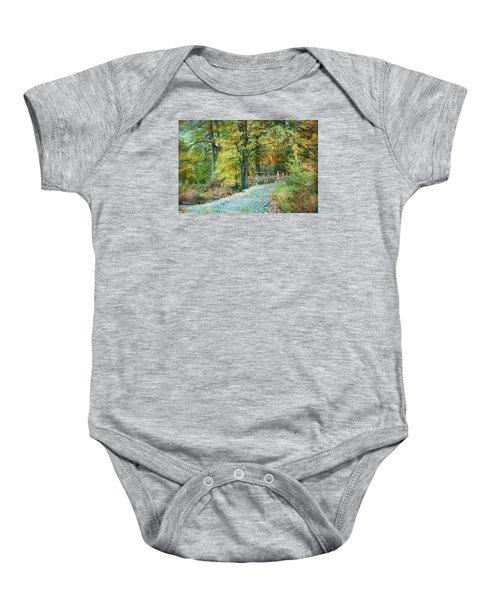 Cross Over The Wooden Bridge Baby Onesie