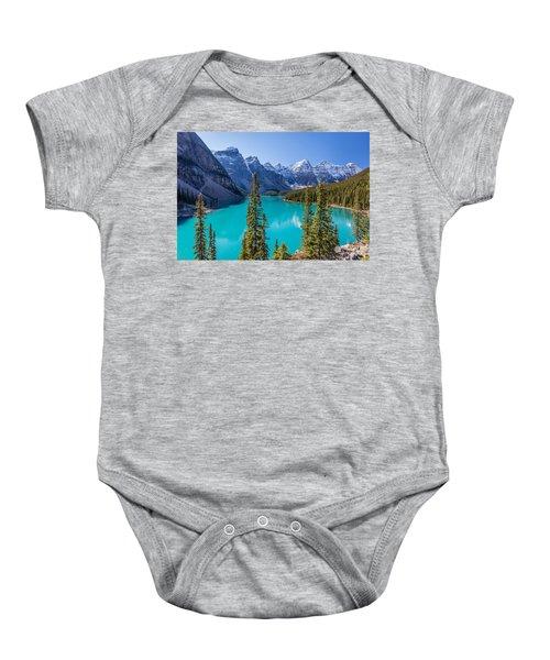 Crown Jewel Of The Canadian Rockies Baby Onesie