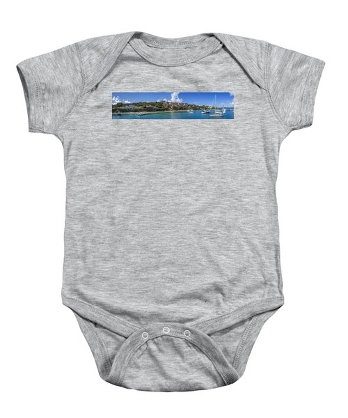 Baby Onesie featuring the photograph Cruz Bay, St. John by Adam Romanowicz