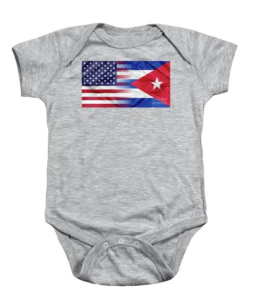 Cuba And Usa Flags Baby Onesie