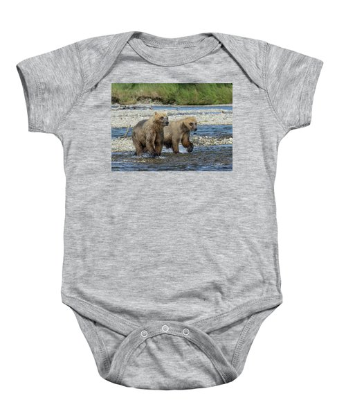 Cubs On The Prowl Baby Onesie