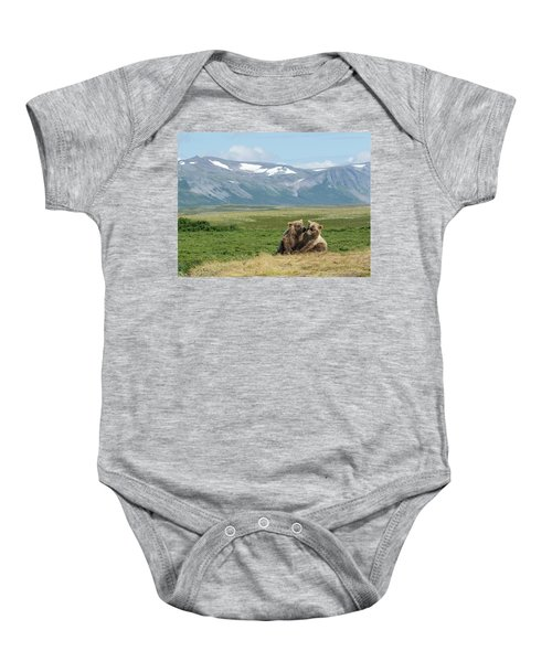 Cubs Playing On The Bluff Baby Onesie