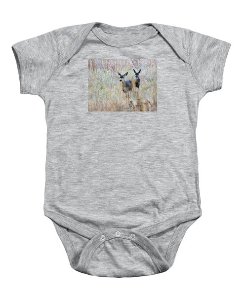 Curious Duo Baby Onesie