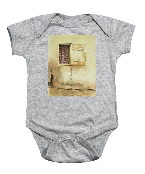 Curtain In Window Baby Onesie