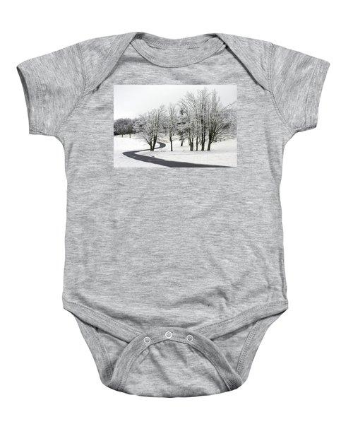 Mac Rae Field Curved Path Baby Onesie