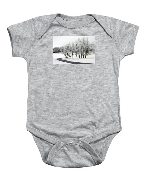 Mac Rae Field Curved Path Baby Onesie