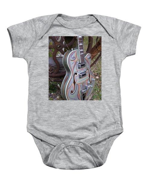 Custom Painted Giutar Baby Onesie