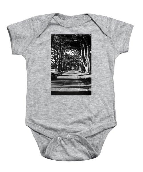Cypress Tree Tunnel Baby Onesie