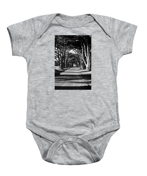 Cypress Tree Tunnel Baby Onesie