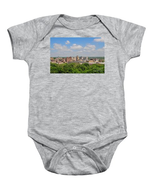 D39u118 Youngstown, Ohio Skyline Photo Baby Onesie