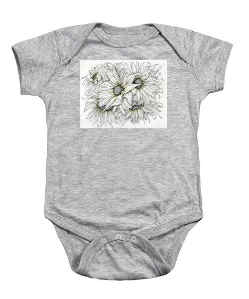 Sunflowers Pencil Baby Onesie