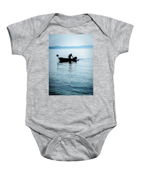 Dalmatian Coast Fisherman Silhouette, Croatia Baby Onesie