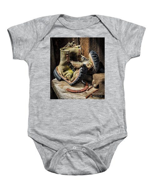 Damn I Worked Hard Human Interest Art By Kaylyn Franks Baby Onesie