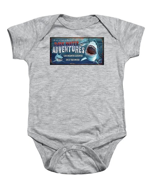 Dark Water Adventure Baby Onesie