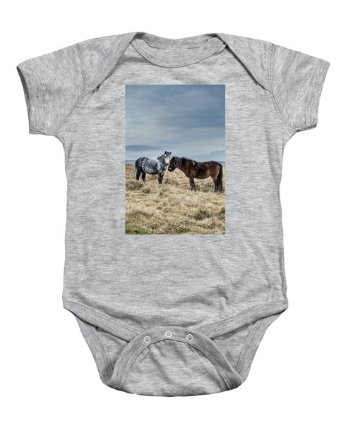 Dartmoor Ponies On Dartmoor Baby Onesie