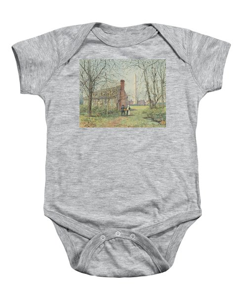David Burns's Cottage And The Washington Monument, Washington Dc, 1892  Baby Onesie