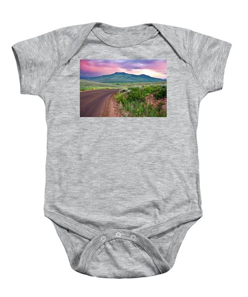 Dawn At Flattop Mountain Baby Onesie