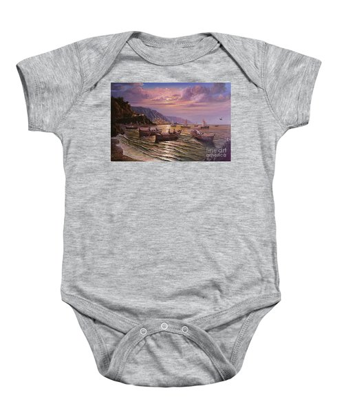 Day Ends On The Amalfi Coast Baby Onesie