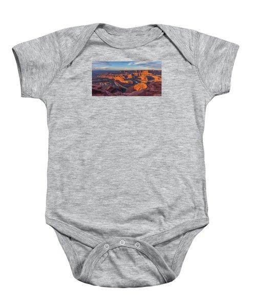 Dead Horse Point Sunrise Panorama Baby Onesie