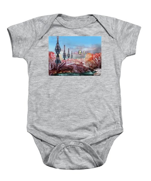 Decalcomaniac Transmission Towers Baby Onesie