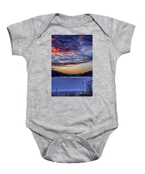 December Dawn On The Lake Baby Onesie