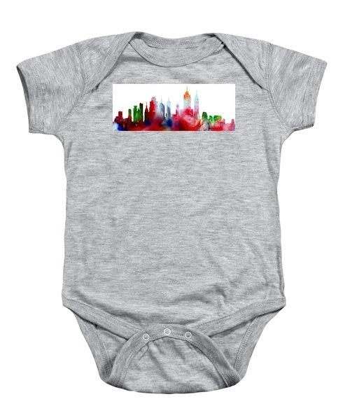 Decorative Skyline Abstract New York P1015c Baby Onesie