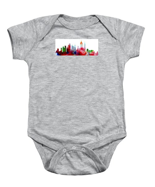 Decorative Skyline Abstract New York P1015c Baby Onesie