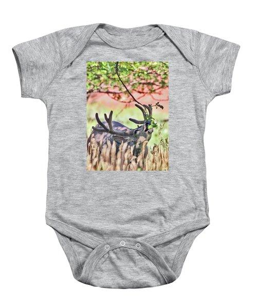 Deer In The Orchard Baby Onesie