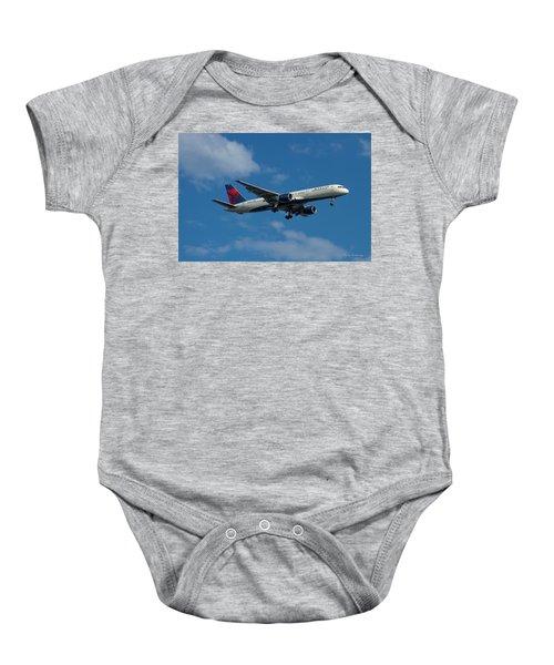 Delta Air Lines 757 Airplane N668dn Baby Onesie