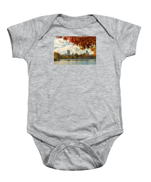 Denver Skyline Fall Foliage View Baby Onesie