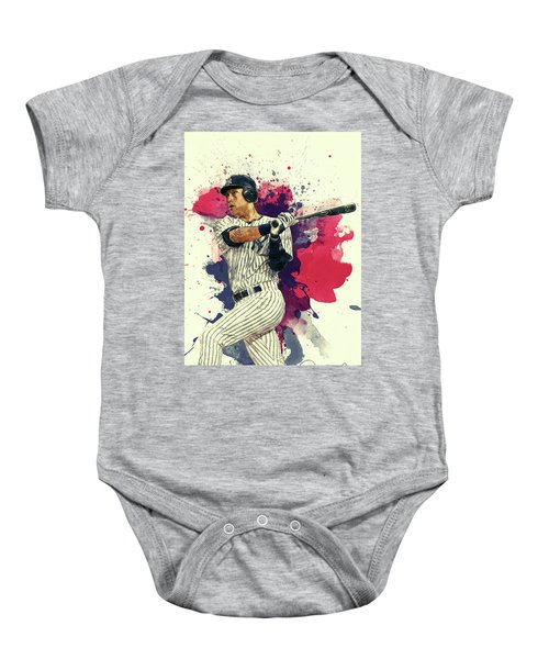Derek Jeter Baby Onesie by Taylan Apukovska