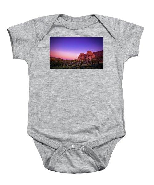 Desert Grape Rock Baby Onesie