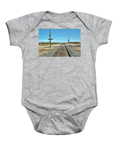 Desert Railway Crossing Baby Onesie