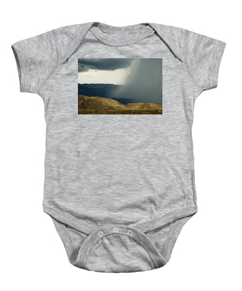 Baby Onesie featuring the photograph Desert Storm by Renee Hong