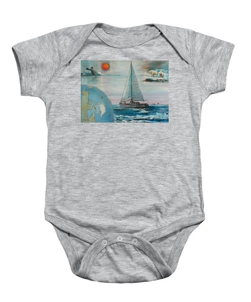 Ireland Canada Links..'' Northabout '' Rounding The North West Passage Baby Onesie