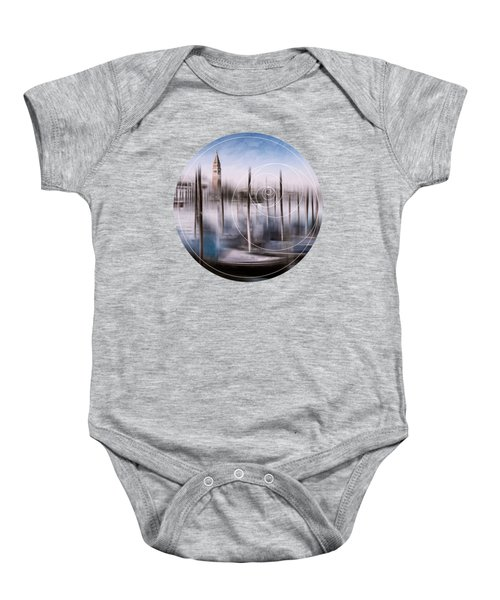 Digital-art Venice Grand Canal And St Mark's Campanile Baby Onesie by Melanie Viola