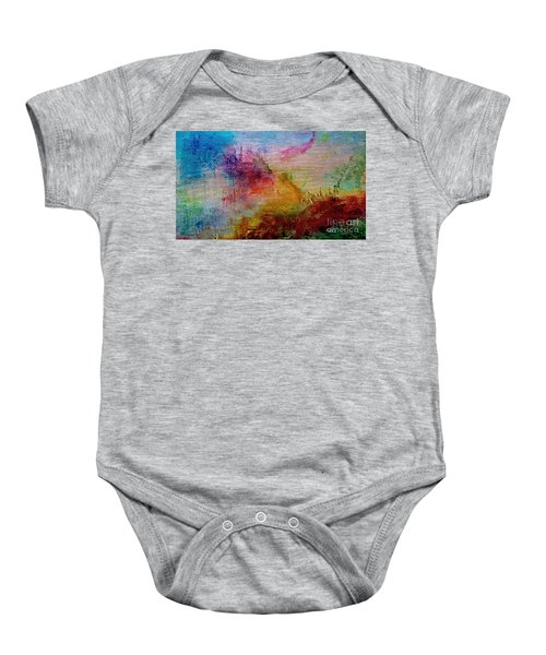 1a Abstract Expressionism Digital Painting Baby Onesie