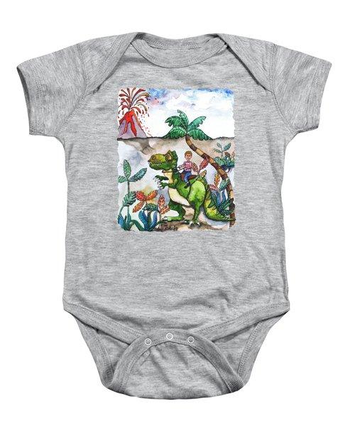 Dinosaur Rider Baby Onesie