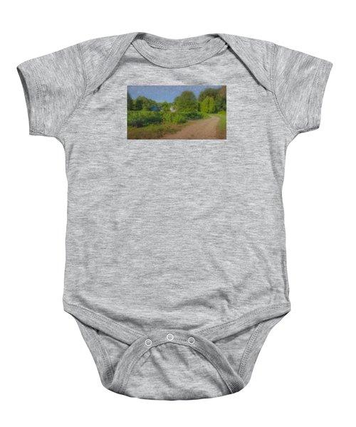 Dirt Road At Langwater Farm Baby Onesie